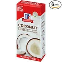 McCormick Coconut Extract With Other Natural Flavors, 1 Fl Oz (Pack of 6)