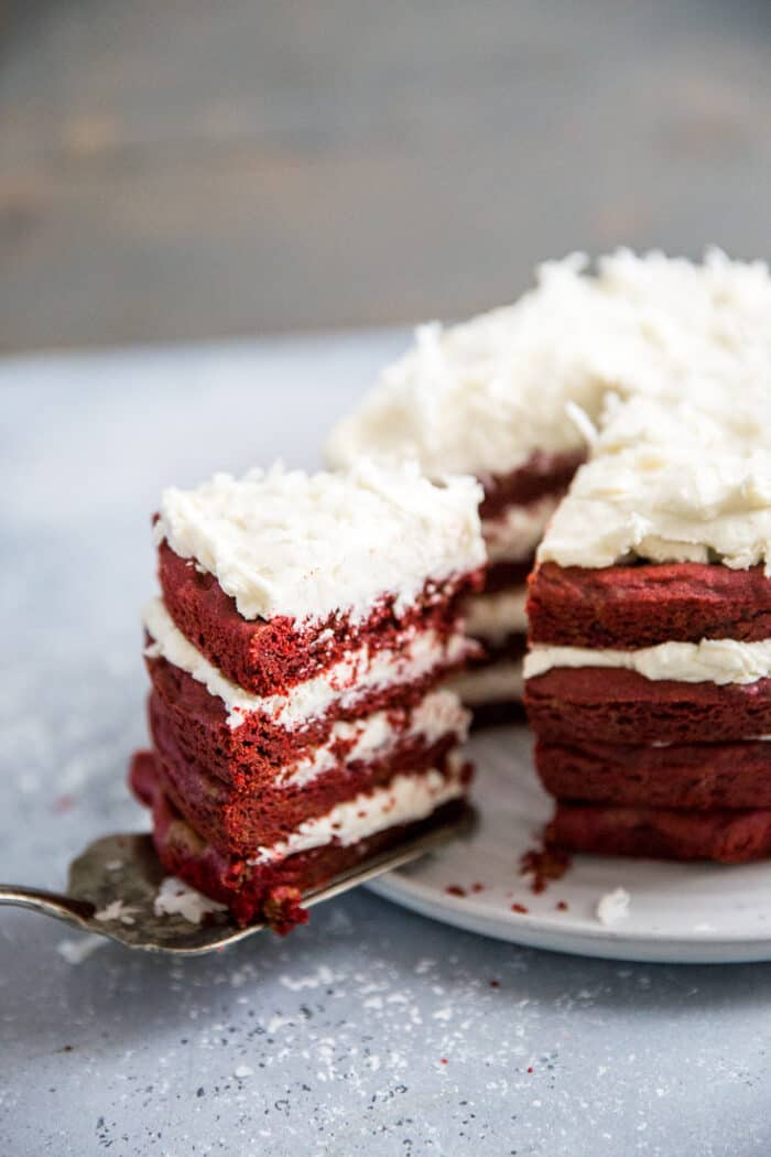 red velvet cookie cake