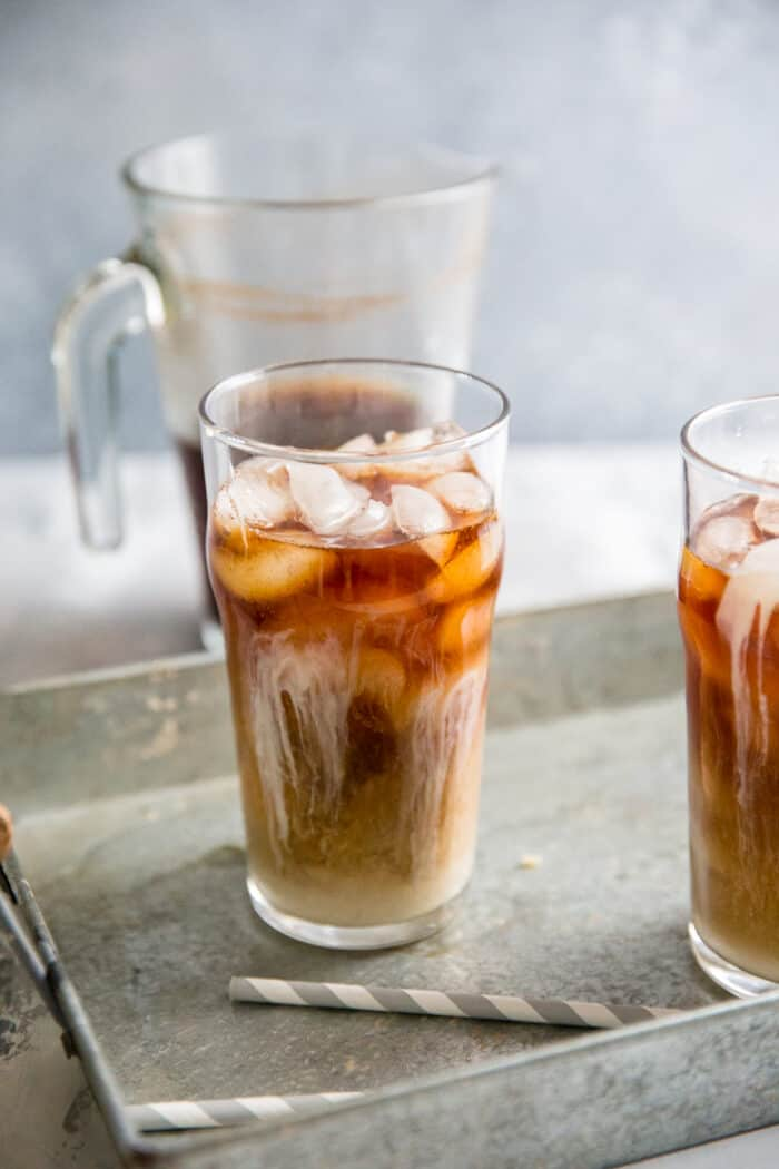 glass of cold brew coffee recipe