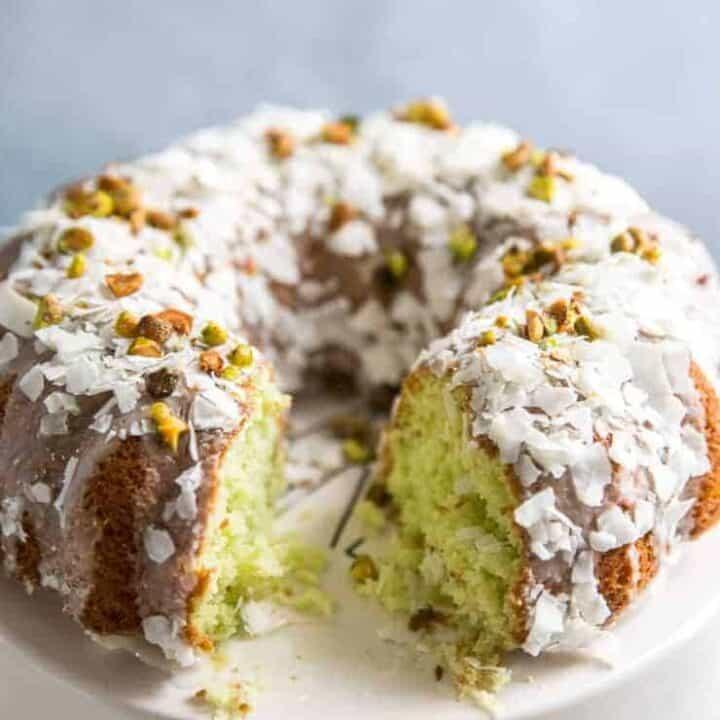 Coconut Pistachio Cake