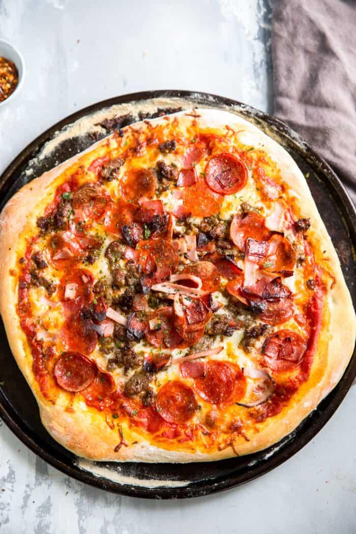 whole Italian pizza