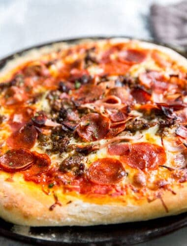 meaty Italian pizza