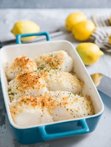 baked cod withe lemons