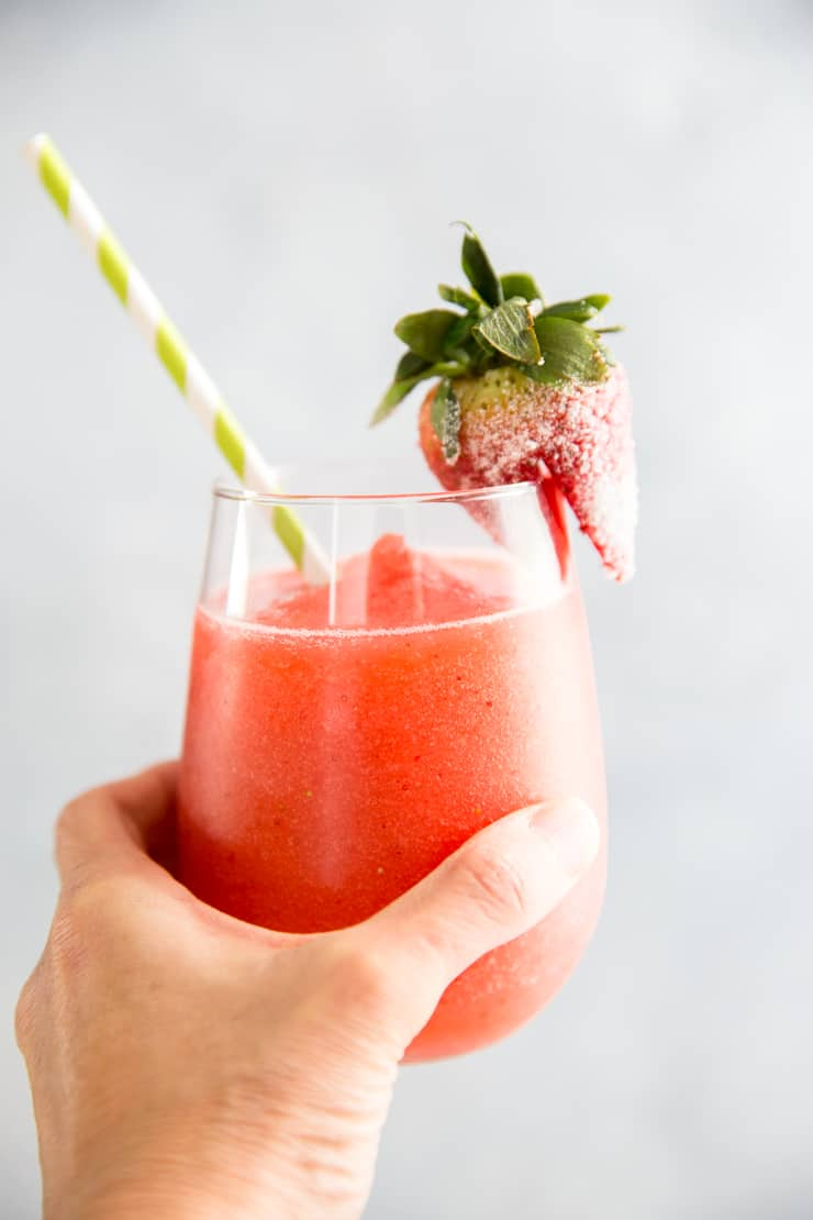 hand held strawberry daiquiri