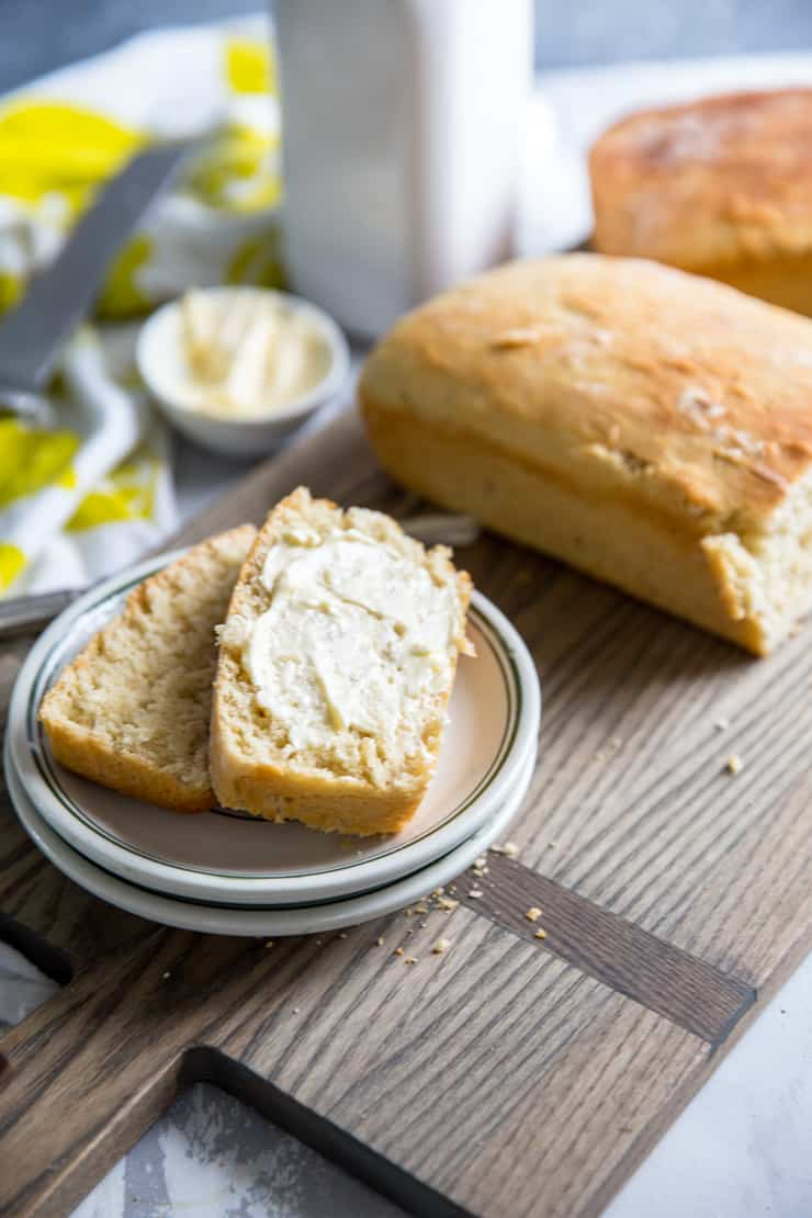buttered slices of homemade bread recipe