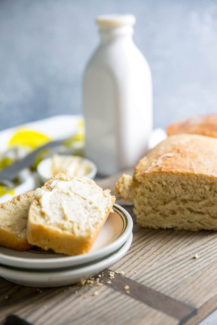 homemade bread slice with butter