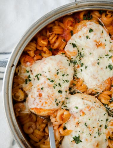 cheese covered bake chicken parmesan